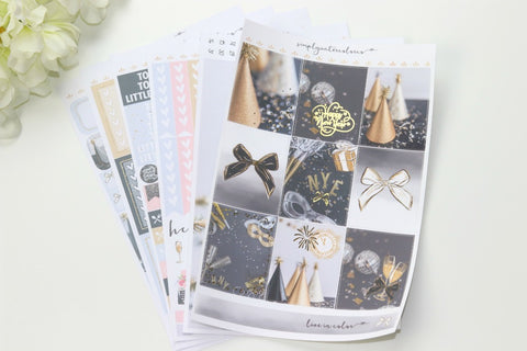 FOIL Mia Deluxe Kit (Gold Foiled) // ECLP Planner Stickers