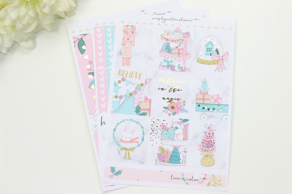 FOIL Anabelle MINI Kit (Gold Foiled) // ECLP Planner Stickers