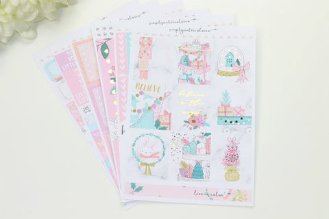 FOIL Anabelle Deluxe Kit (Gold Foiled) // ECLP Planner Stickers