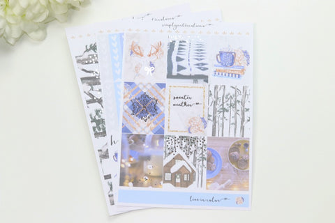 FOIL Stella MINI Kit (Silver Foiled) // ECLP Planner Stickers