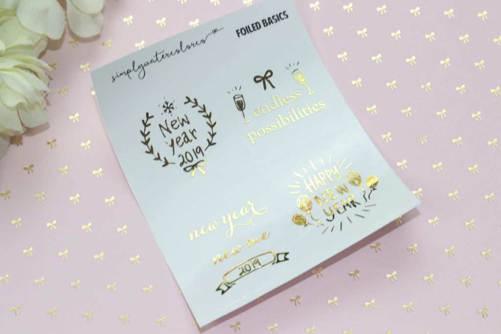 foil clear new year quotes gold rose gold silver no coupons