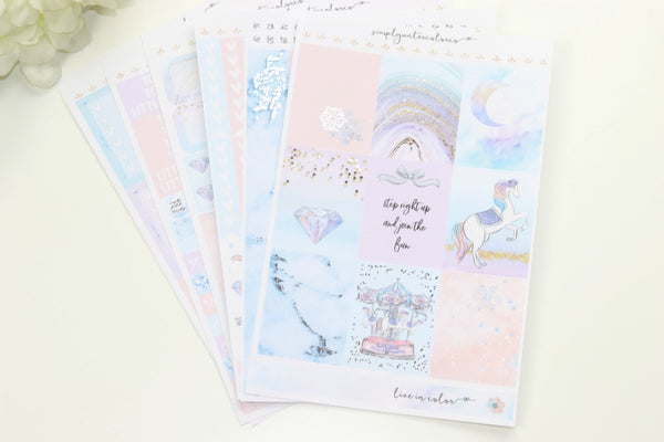 FOIL Frost Deluxe Kit (Silver Foiled) // ECLP Planner Stickers