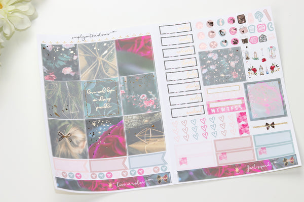 FOIL Aura B6 Kit (Rose Gold Foiled) // ECLP Planner Stickers