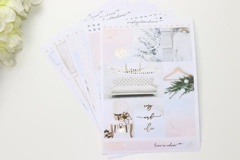 FOIL Chic Deluxe Kit (Gold Foiled) // ECLP Planner Stickers