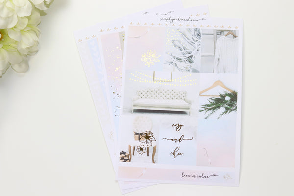 FOIL Chic MINI Kit (Gold Foiled) // ECLP Planner Stickers
