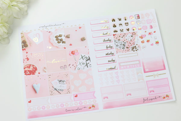 FOIL Fleur B6 Kit (Gold Foiled) // ECLP Planner Stickers