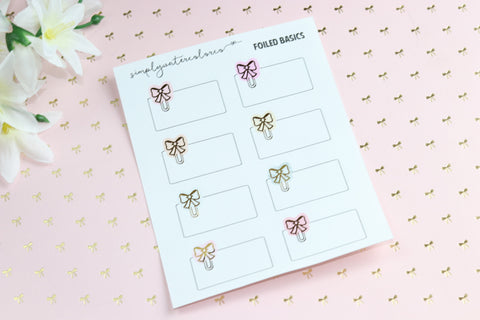 FOIL Bow Clipped Boxes (Gold, Rose Gold, Silver) NO COUPONS
