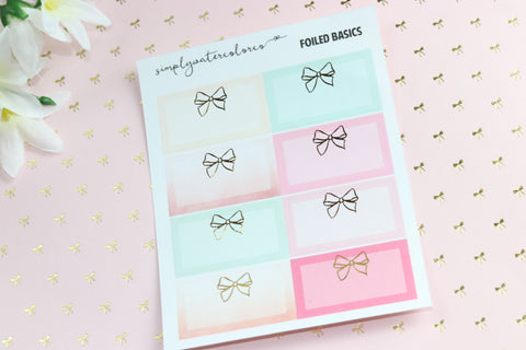FOIL Bow Boxes // Love Story Colorway (Gold, Rose Gold, Silver) NO COUPONS