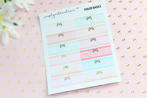 FOIL Bow Labels // Love Story Colorway (Gold, Rose Gold, Silver) NO COUPONS