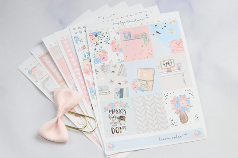 FOIL Bethany Deluxe Kit (Rose Gold Foiled) // ECLP Planner Stickers