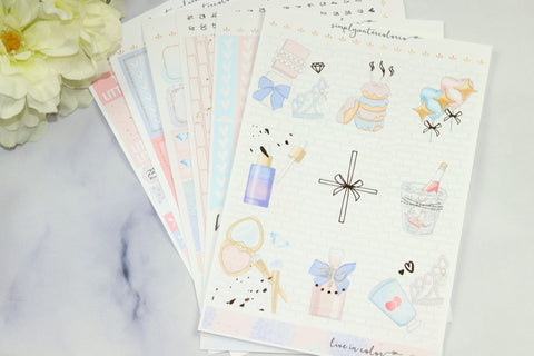 FOIL Chloe Deluxe Kit (Gold Foiled) // ECLP Planner Stickers