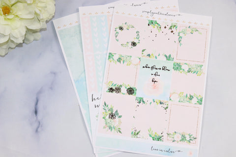 FOIL Safiya MINI Kit (Rose Gold Foiled) // ECLP Planner Stickers
