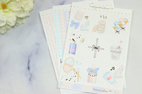 FOIL Chloe MINI Kit (Gold Foiled) // ECLP Planner Stickers