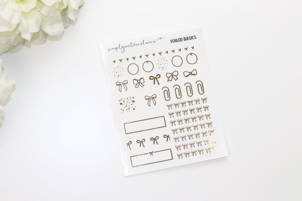 FOIL CLEAR Sampler (Gold, Rose Gold, Silver Foil)
