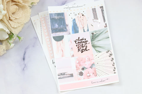 FOIL California MINI Kit (Rose Gold Foiled) // ECLP Planner Stickers