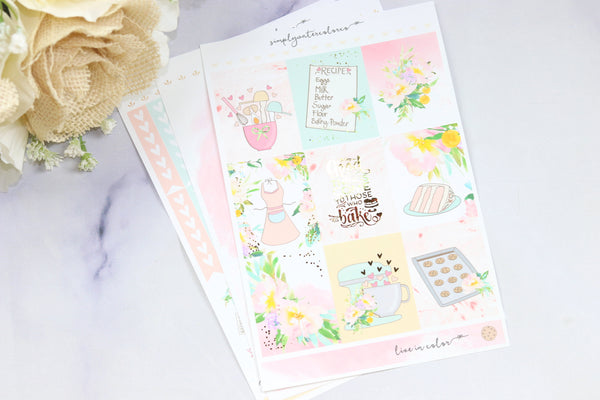 FOIL Belinda MINI Kit (Gold Foiled) Sparkle // ECLP Planner Stickers