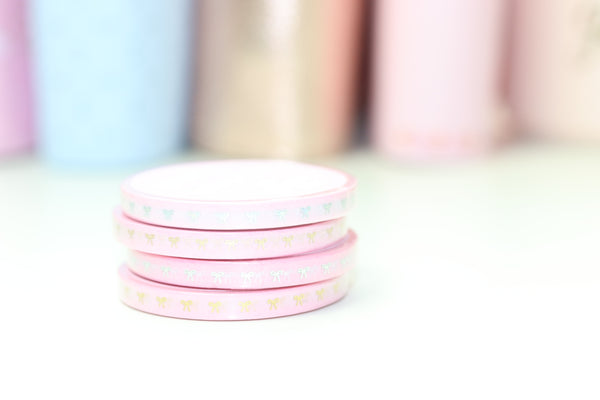 Dainty Bows // 5mm Washi Tape (NO COUPONS)