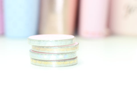 CLEAR Dainty Bow 5mm Washi Tape (NO COUPONS)