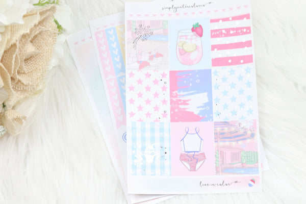 FOIL Abigail MINI Kit (Silver Foiled) // ECLP Planner Stickers
