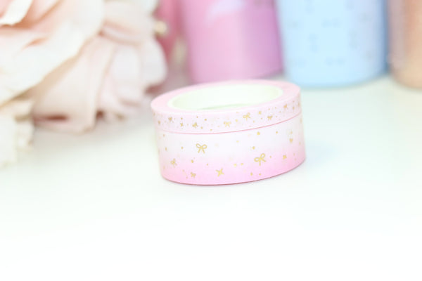 Bow Sparkle Washi Tapes // Gold Foil (NO COUPONS)