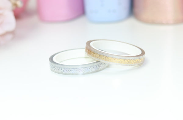 CLEAR Perforated Bow // Headers 6mm Washi Tapes (NO COUPONS)