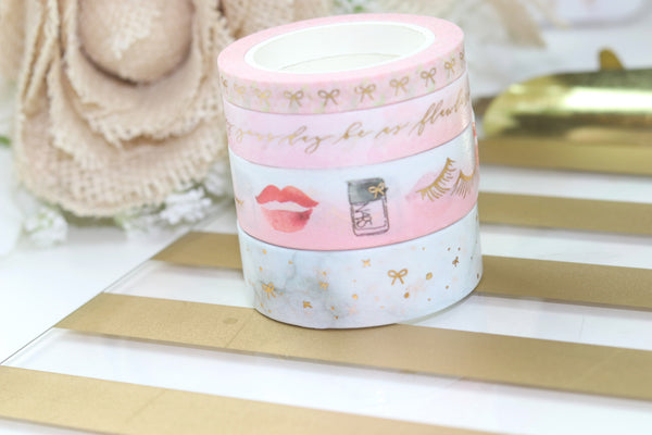 Niki Plans/Ribbon&Nib COLLAB WASHI // Gold Foil