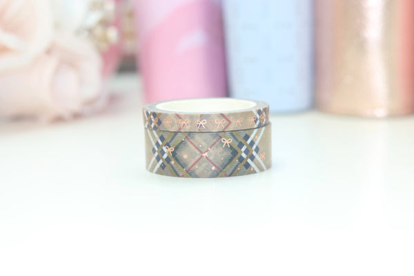 Mad for Plaid Washi // Rose Gold Foil