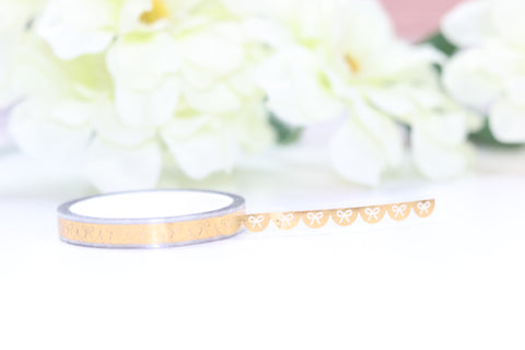 Bow Scallop Header Overlay Tape (Gold) // 6mm