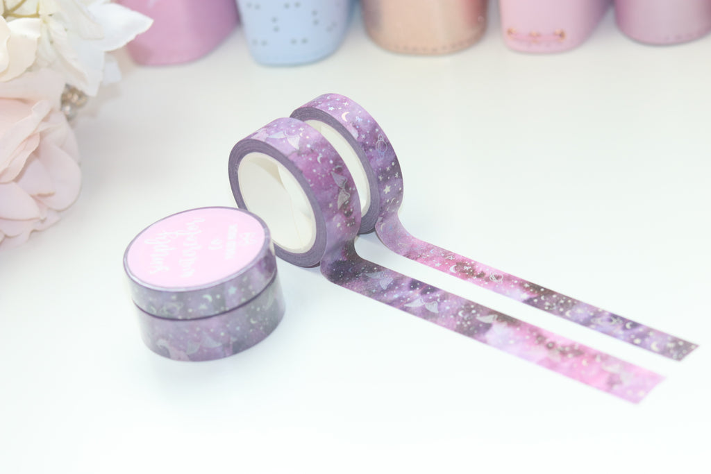 Bow Sparkle Washi Tapes Holo Foil Pink
