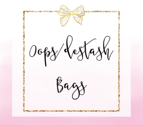 OOPS + DESTASH BAGS 10 Sheets (NO COUPONS)