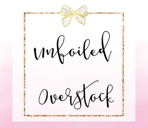 DESTASH // Unfoiled Overstock 10 sheets (NO COUPONS)