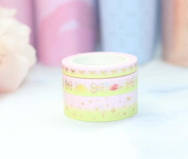 Pink Lemonade Washi // Gold Foil