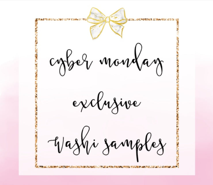 FOIL CYBER MONDAY EXCLUSIVE Washi Samples // ECLP Planner Stickers