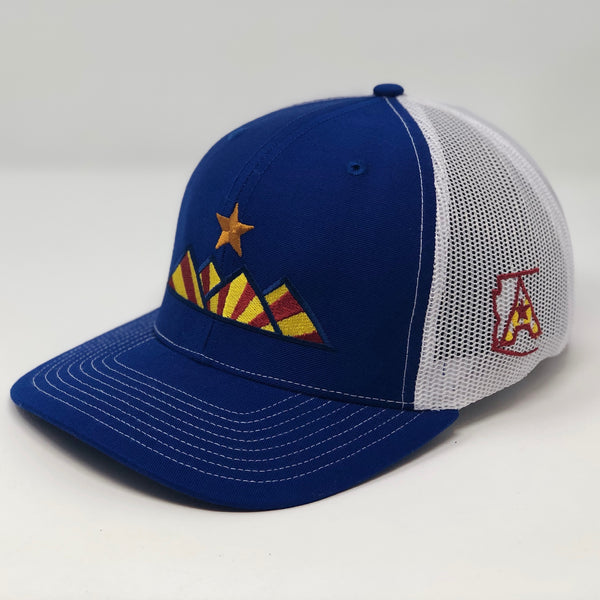 Hike Trucker Hat - Royal/White