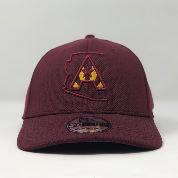Arizoniacs Logo New Era Fitted Cap - Maroon