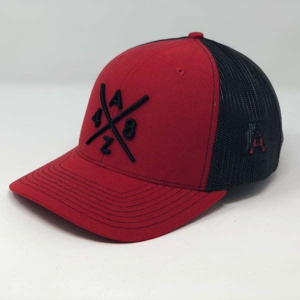 AZ48 Compass Red/Black Trucker Hat
