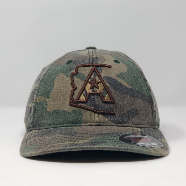 Arizoniacs Logo Fitted Hat - Washed Camo