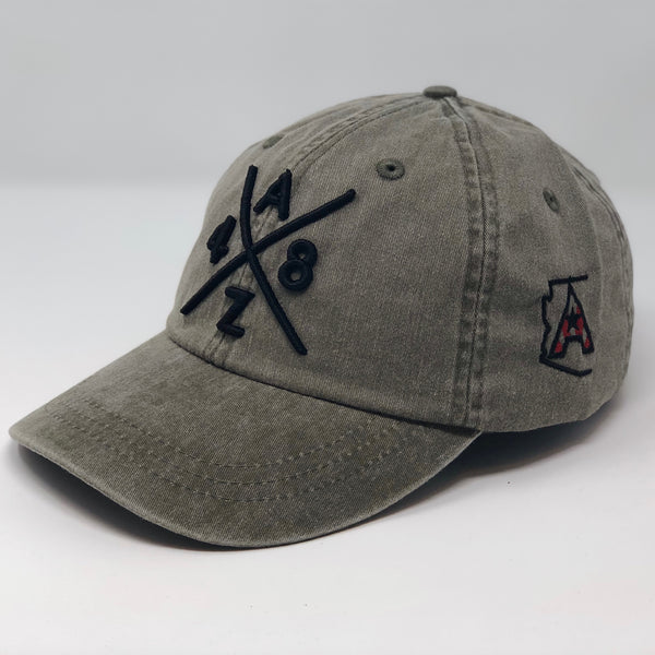 AZ48 Compass Pigment Dyed Dad Hat - Olive