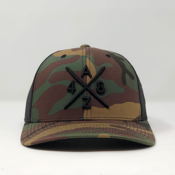 AZ48 Compass Camo Trucker Hat