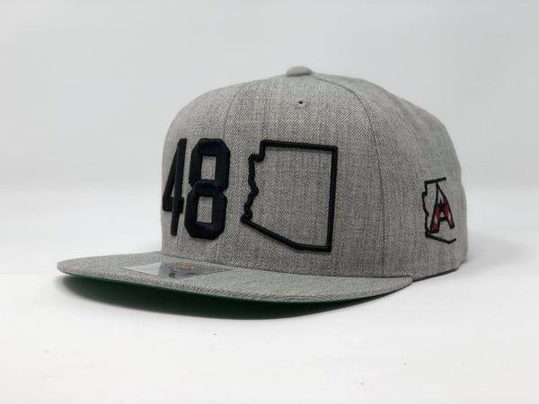 48 Arizona Flatbill Snapback Cap - Grey