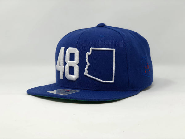 48 Arizona Flatbill Snapback Cap - Royal