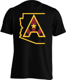 Arizoniacs Logo - Men's Black/Gold