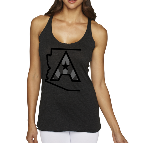 Arizoniacs Logo Women's Tank - Black/Grey