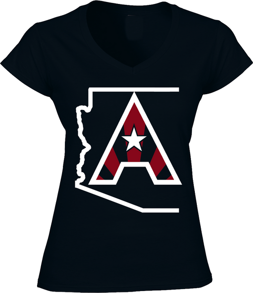 Arizoniacs Logo - Black and White  Women's V-neck