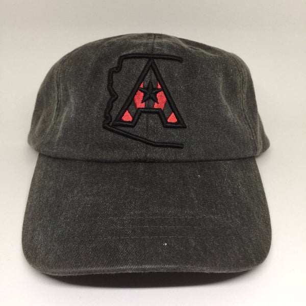 Arizoniacs Pigment Dyed Dad Hat - Black/Black