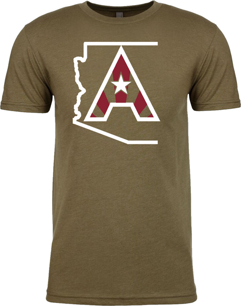Arizoniacs Logo - Men's Military Green