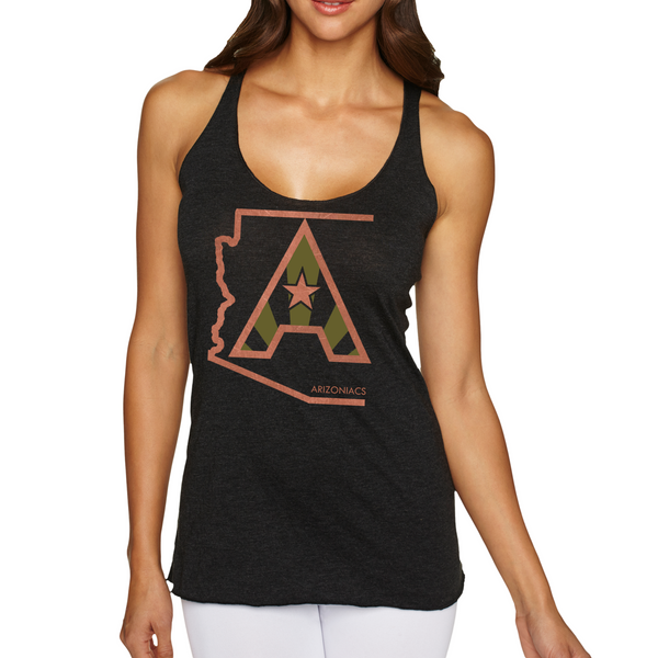 Arizoniacs Logo - Copper and Cactus  Women's Tank