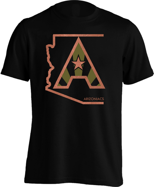 Arizoniacs Logo - Men's Copper and Cactus