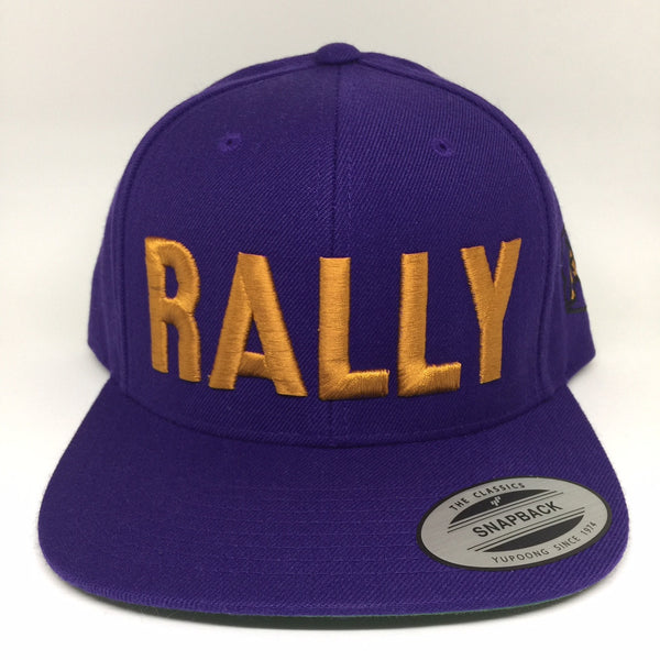 Rally Cap Flatbill Snapback Cap - Purple/Copper