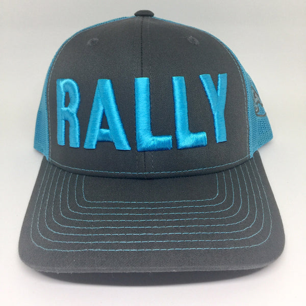 Rally Cap Grey/Turquoise Trucker Hat